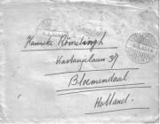 Brief van Hans uit Indië (1950) enveloppe adres.