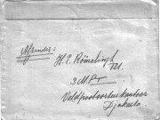Brief van Hans uit Indië (1950) enveloppeafz.