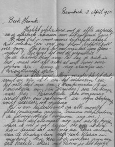 Brief van Hans uit Indië (1950) vk.