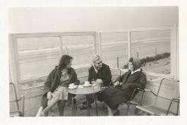 Zandvoort, Karin Diehl, Aukje en ik